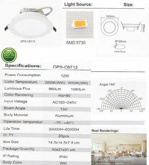 OPS-C6712-12W