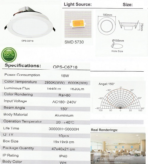 OPS-C6718-18W