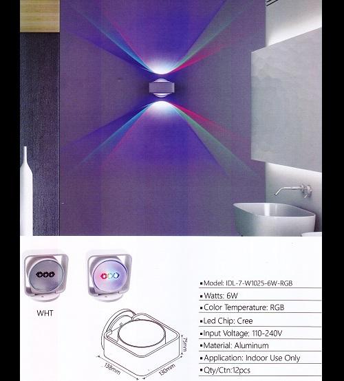 IDL-7-W1025-6W-RGB-WH